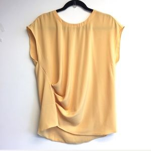DKNYC Oversized Sleeveless Blouse Side Rouching M